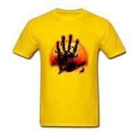 dedo de la camiseta de los hombres al por mayor-Cinco dedo hombres de la montaña camiseta 2019 New Escalada divertida única gráfico de la moda tes de las tapas de cuello redondo 100% algodón ropa de regalos Camisetas hombre