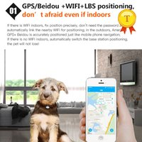 Wholesale gps tracking resale online - Waterproof MiNi Pet GSM GPS Tracker Locator Collar For Dog Cat Long Standby Geo Fence LBS Free APP Platform Tracking Device