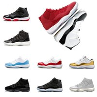 Wholesale gym floor shoes resale online - Box High Quality With s Low Basketball Shoes Concord Cap Gown Mens Women Unc Gym Red Gamma Blue Sport J11 Sneakers