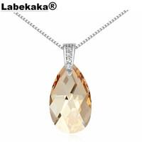 Wholesale austrian swarovski crystal jewelry for sale - Group buy Labekaka Austrian Crystal Water Drop Necklace Crystal from Swarovski Women Fashion Jewelry wedding jewelry for brides