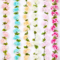 Wholesale cherry blossoms artificial flowers resale online - Cherry Blossoms Artificial Flowers Lifelike Universal Flower Garlands Easy To Clean Portable Durable Eco Friendly Hot Sale xsI1