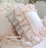 Wholesale ruffled pillowcases for sale - Group buy 100 Cotton Top Luxury Cushion Pillowcase Ruffle Lace Pillow Beauty Cake Layers Princess Bedding Decorative Pillows