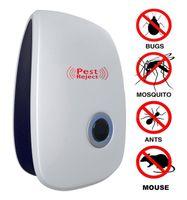 ultrasonik böcek kovucusu toptan satış-Elektronik Ultrasonik Haşere Kovucu Haşere Haşere Kontrol Ekipmanları Sivrisinek Yatağı Böcekler Fareler Sinekler Hamamböceği Karıncalar Örümcekler ve Diğer Böcek