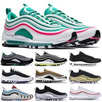 Wholesale men canvas navy blue shoes resale online - Iridescent Layser White Neon Seoul OG Running Shoes For Men Guava Ice Barely Rose Michigan Parra Triple Black White Zapatos Trainers
