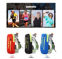 Wholesale soccer bottle for sale - Group buy AONIJIE Nylon Marathon Bag Kettle Pack Outdoor Sports Bag Men Women Hiking Running Hand Hold Kettle Bag with ml Water Bottle
