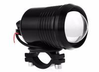 Wholesale external led spot light resale online - External LED Motorcycle Headlight Waterproof Spot Head Light Motorbike Fog Lamp Bulb U2 LM W Motor Styling Light Source