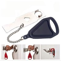 Wholesale door stopper security for sale - Group buy Portable Security Door Lock Stopper Home Anti theft Lock Room Latches Travel Safety Lock Stainless Chian Guard Hotel Door styles LXL116