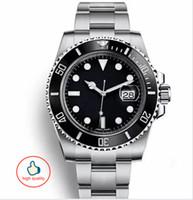 relógios mens venda por atacado-Top cerâmica mens mecânica inoxidável com logotipo dos homens relógios de luxo 904L relógios mecânicos relogio de luxo relógio de pulso