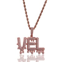 70cc5133e47b joyas collares al por mayor-Joyería de Hip Hop con helado Colgantes para  hombre Collar