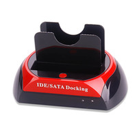 Wholesale sata drive dual dock for sale - Group buy HDD Docking Station Dual Hard Disk Drive Docking Station Base for Inch Inch IDE SATA USB