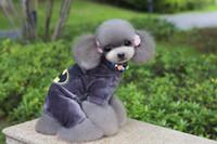 batman köpeği toptan satış-2 adet Pet giyim köpek giyim pet giyim Batman dört bacaklı polar köpek mont ceketler pantolon