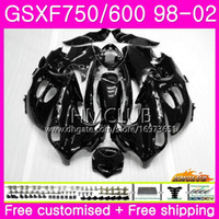 gsx750f 99 fairing 2021 - Kit For SUZUKI KATANA GSX750F GSXF750 1998 1999 Glossy black 2000 2001 2002 Body 3HM.1 GSXF 750 600 GSX600F GSXF600 98 99 00 01 02 Fairing