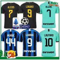 camisa inter venda por atacado-19 20 Inter camisa Lukaku Candreva ALEXIS LAUTARO Milan casa longe Kondogbia Jovetic 2019 camisa kit 2020 Icardi esportes Homem adulto e crianças
