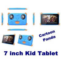 Wholesale 2020 NEW Cartoon Panda kid Tablet PC Quad Core Inch HD screen Android AllWinner A33 MB RAM with GB ROM Q8 with Bluetooth