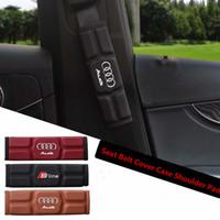 gepolsterte autositzbezüge großhandel-Autogurt abdeckung fall schulterpolster für audi a3 a4 a5 a6 q3 q5 q7 rot schwarz braun speicher baumwolle