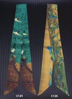 ingrosso cravatte cinesi-2pcs cinese stile canzone canzone Huizong Ruihe legato maniglia del sacchetto piccolo nastro di simulazione Twill sciarpa di seta fascia per capelli sciarpa femminile