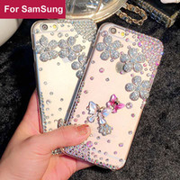 Wholesale s5 butterfly case for sale – best Butterfly Diamond Rhinestone case cover For Samsung Galaxy S3 S4 S5 S6 S7 Edge S8 S9 Plus Note G530 A8 Star
