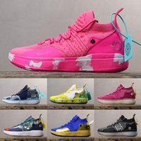 Wholesale kd shoes for men low cut resale online - 2019 New KD Aunt Pearl shoes for sale With Box new Kevin Durant Basketball shoes