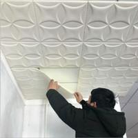 tijolo autoadhesivo de papel de parede 3d venda por atacado-Parede 3D Adesivos Imitação Tijolo Decoração Do Quarto À Prova D 'Água Auto-adesivo Papel De Parede Para Sala de estar Cozinha TV Cenário Decoração 70 * 70 cm