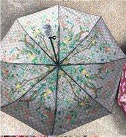 kinder schwarze regenschirme großhandel-Vollautomatische Regenschirm Regen Frauen Männer 3Folding Light und Durable 386g 8K Starke Regenschirme Kids Rainy Sunny