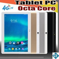 Wholesale 64gb tablet lte online - E MTK6737 inch quot Tablet PC Octa Core IPS Bluetooth GB RAM GB ROM G LTE Dual sim Phone Android GPS