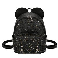 Wholesale cute backpacks women resale online - Shining Sequins Women Cute Small Backpacks Pu Leather School Bags Girls Princess Shoulder Bag New Fashion Female Backpack Y19051502