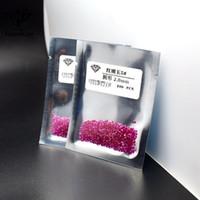 piedras de acrílico diamante al por mayor-20191109 0,8 mm-3 mm de joyas con incrustaciones de corindón sintético redondo rojo desnuda piedra afilada inferior