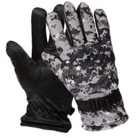 guantes de fútbol al por mayor-Camouflage Tactical Army Gloves Men SWAT Military Equipment Full Finger Glove CP Camo Paintball Shoot Bicycle Gloves