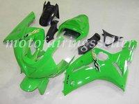 zx6r verde al por mayor-OEM Calidad Nueva ABS Carenados Moldes de Inyección kits de ajuste del 100% para Kawasaki Ninja ZX6R ZX6R 636 2003 2004 03 04Bodywork Set brillante Verde