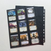 20PCS Lot Trading Card Protectors Black Album Pages Double Sided 9 Pocket Pages (Total 18 Pocket) for Pkm YGO Star Realm CARDS