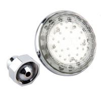 ingrosso ha condotto l'illuminazione della doccia che cambia colore-Nuova luce a LED 7 colore cambiando acqua bagliore di soffione doccia bagno casa calda ricerca