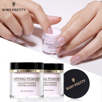 Wholesale holographic glitter nail art resale online - BORN PRETTY Dipping Nail Powders Gradient French Nail Natural Color Holographic Glitter Without Lamp Cure Nail Art Decorations