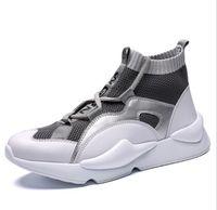 zapatillas altas amarillas al por mayor-2019 Nuevo Y3 Style High Top Zapatillas de deporte para hombre Triple Negro Gris Amarillo Botas de alta calidad Entrenadores Aire libre Calzado deportivo Diseñador Chaussures