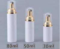 ingrosso foaming pump bottle-30/50 / 80ml bottiglie di schiuma di schiuma di plastica del sapone della bottiglia di schiumatura dispenser liquido schiuma bottiglie di schiuma di imbottigliamento di lozione della lozione con la pompa d'oro