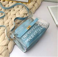 pequeñas pestañas al por mayor-Fairy Messenger Bag Chain Small Square Bag PVC Lash Package Single Shoulder Bag Jelly Packet Tide