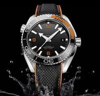 erkekler yüzleri izliyor toptan satış-Sıcak satış Mens Watch master siyah yüz Erkekler Saatler Otomatik Hareketi Mekanik kauçuk Kayış Safir cam erkek Saatler