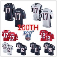 Wholesale football jerseys new england for sale - Group buy New Antonio Brown Men s Tom Brady england Rob Gronkowski Patriots football women youth Sony Michel Julian Edelman Jersey