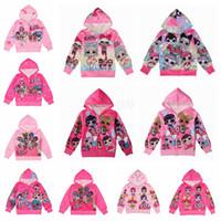 Wholesale cute women color wool coats resale online - Cartoon Surprise Girls Zipper Coat Spring Autumn Cute Hoodies Jackets Kids Sweatshirts Children Long Sleeve Hooded Top Coats LJJA2925