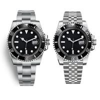 ingrosso uomini blu viso orologi-Guarda orologio faccia di lusso nero imitazione V9 verde viso blu tulle 3135 movimento e orologio da uomo in acciaio 904L