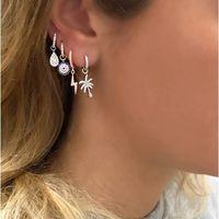 Wholesale cute heart copper earrings for sale - 2018 Summer Silver Earring Delicate Minimal Cute Palm Tree Charm Summer Beach Design Cute Lovely Charm Dangle Earring Silver C19041101