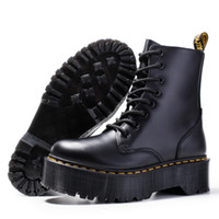 Wholesale black ankle boots thick heel for sale - Group buy Thick heel Women martin boots ankle shoes genuine leather boots cow muscle sole lace up chunky heel boot for ladies zy8472 A18