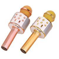 mikrofone für karaoke großhandel-Handy K Song Schatz Karaoke Funkmikrofon Bluetooth-Mikrofon