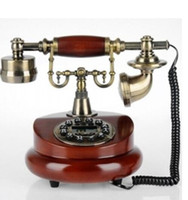Wholesale rotary phone new online – Telephone Antique Wood Retro European Fashion Home Phone Optional Rotary Dial Phone