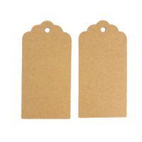 Wholesale vintage hang tags resale online - Kraft Paper Gift Tags Simple DIY Blank Price Tag Vintage Wedding Favor Hang Tags