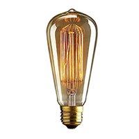 Wholesale vintage squirrel bulbs for sale - Top quality GAOLUSI Bulb Antique Vintage Retro E27 W V V Edison Squirrel Cage Incandescent Light Edison Bulb Filament