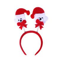 urso jóias homens venda por atacado-Natal atmosfera criativa homem velho, alces, antler e urso padrão crianças jóias vermelho feltro pano headband