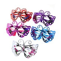 Wholesale butterfly costumes for women resale online - Butterfly Mask Halloween eye attached Breathbale Charming Face Fancy Ball Festival Masquerade Cosplay Costume Cosplay Dance Party Supplies