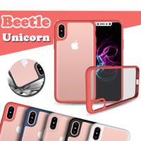 Wholesale unicorn beetle iphone plus online – custom Unicorn Beetle Colorful Camera Lens Protection Slim Transparent Clear Cover Case For iPhone XS Max XR X S Plus Samsung Galaxy Note