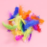 Wholesale pink purple decor for wedding resale online - 100pcs pack Colorful Duck Feathers For Transparent Balls Beautiful Party Ornaments Christmas Wedding Party New Year Decor Craft