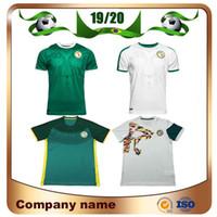 erkekler için uniform gömlekler satışı toptan satış-2019 Senegal Mavi Futbol Forması 19/20 Senegal Beyaz erkek Milli Takım Futbolu Gömlek Kısa kollu Futbol üniforma satış